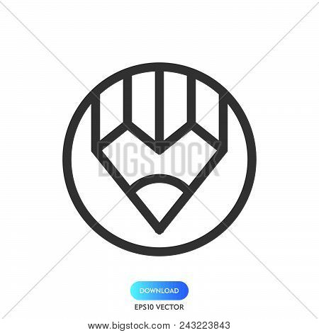 Pencil Icon Simple Vector Sign Symbol. Pencil Vector Icon Illustration, Isolated On White Background