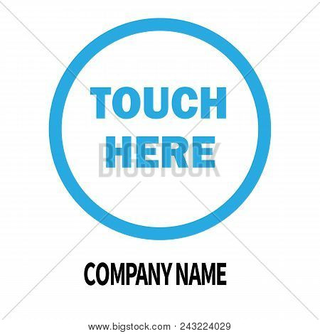 Touch Here Company Logo Design Template. Business Corporate Icon On White Background. Logo Company S