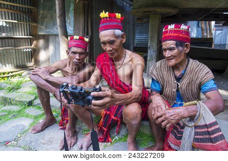 Banaue, Philippines - May 02 : People From Ifugao Minority In Banaue The Philippines On May 02 2018.