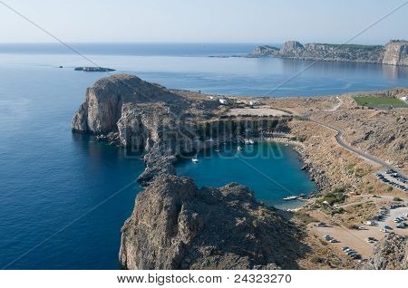 View from Lindos castle