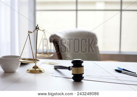 The Desk For Lawyers. To The Work Of Lawyer In The Office Of A Lawyer.