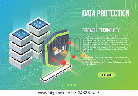 Virus Scan Security Malware. Shield Guard Isometric Flat Vector Illustration. Cyber Crime And Data P