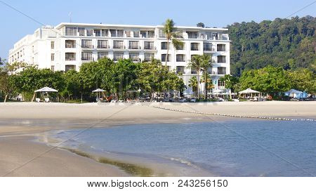 Pulau Langkawi, Malaysia - Apr 4th 2015: View Of The Danna Luxury Hotel On Langkawi Island With The