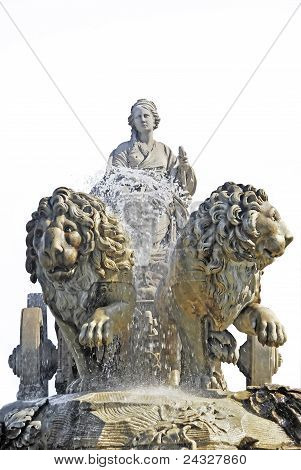 Detail Of Cibeles Isolated