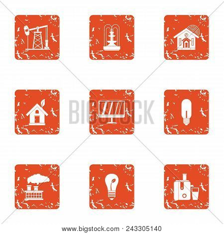 Pep Icons Set. Grunge Set Of 9 Pep Vector Icons For Web Isolated On White Background