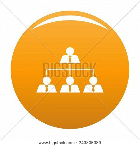 Leadership Icon. Simple Illustration Of Leadership Vector Icon For Any Design Orange
