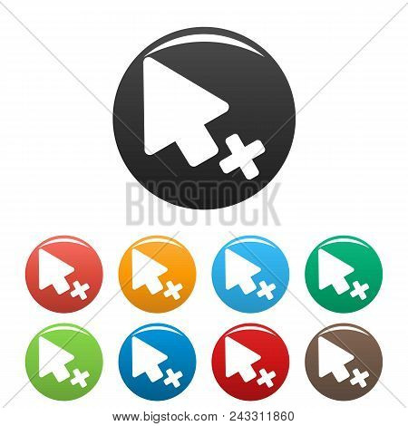 Cursor Failure Icon. Simple Illustration Of Cursor Failure Vector Icons Set Color Isolated On White