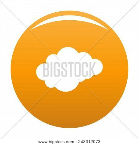 Cloud With Downfall Icon. Simple Illustration Of Cloud With Downfall Vector Icon For Any Design Oran