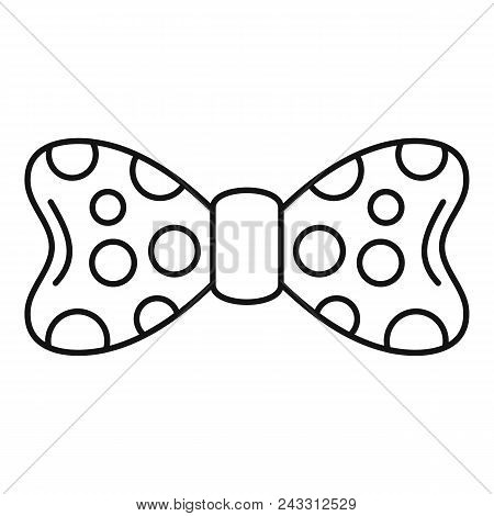 Dot Bow Tie Icon. Outline Dot Bow Tie Vector Icon For Web Design Isolated On White Background