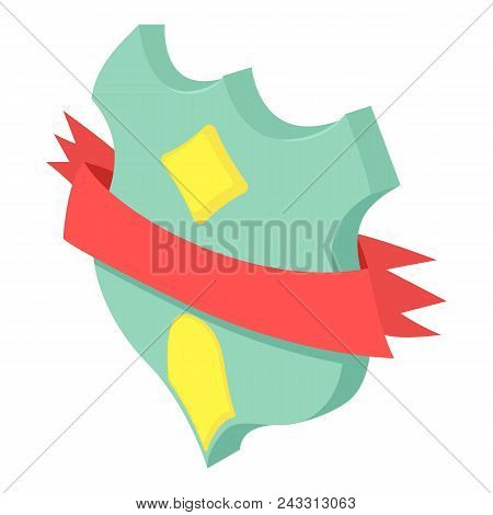 Medieval Shield Icon. Isometric Of Medieval Shield Vector Icon For Web Design Isolated On White Back