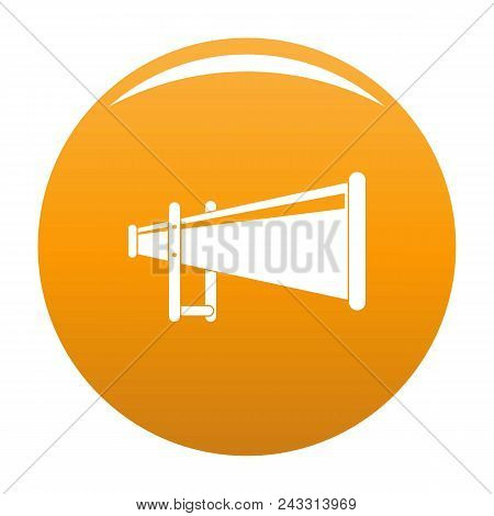 Portable Megaphone Icon. Simple Illustration Of Portable Megaphone Vector Icon For Any Design Orange