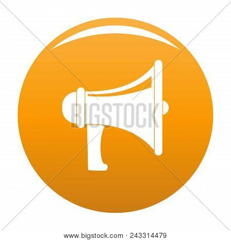 Professional Megaphone Icon. Simple Illustration Of Professional Megaphone Vector Icon For Any Desig