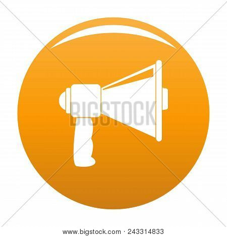 Small Megaphone Icon. Simple Illustration Of Small Megaphone Vector Icon For Any Design Orange