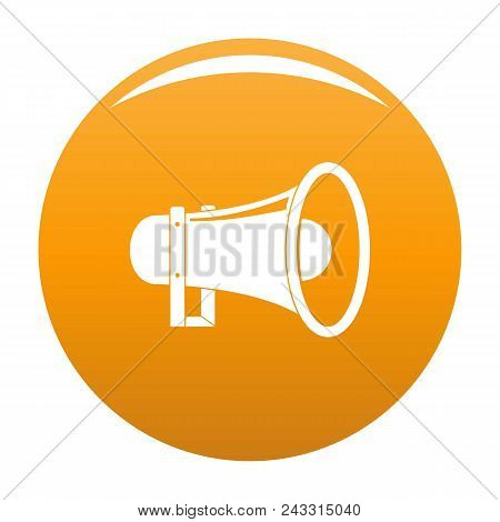 Sound Of Megaphone Icon. Simple Illustration Of Sound Of Megaphone Vector Icon For Any Design Orange
