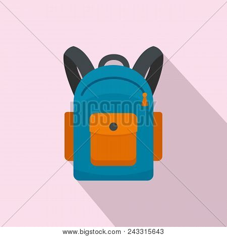 Backpack Icon. Flat Illustration Of Backpack Vector Icon For Web Design