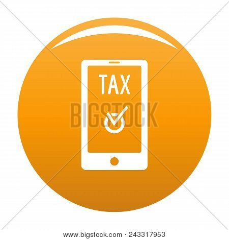 Payment Tax Icon. Simple Illustration Of Payment Tax Vector Icon For Any Design Orange