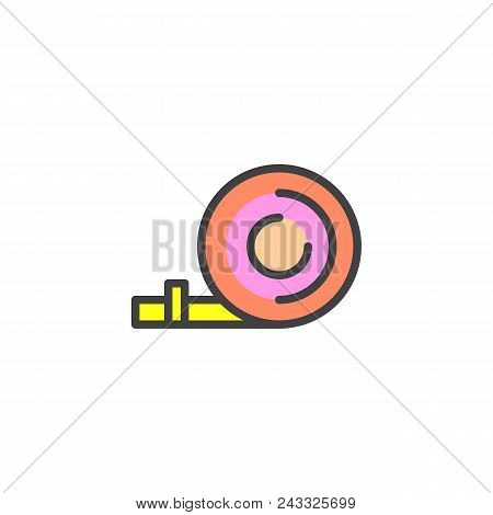 Party Blower Filled Outline Icon, Line Vector Sign, Linear Colorful Pictogram Isolated On White. Pop
