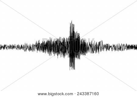 Seismogram. Seismic, Earthquake Activity Record. Vector Illustration.