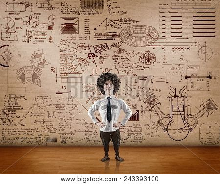 Student Solves The Problem Of Quantum Physics Written On Wall.