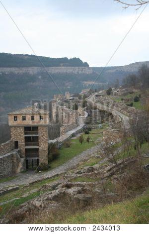 Tsarevets fortress in Veliko Turnovo medieval capital of Bulgaria poster