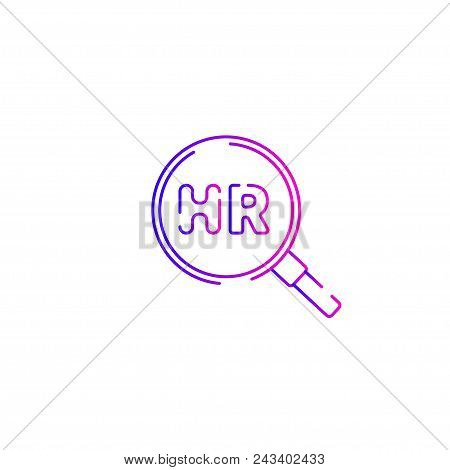 Icon Hr, Human Resources, Logo, Recruiting Symbol, Career And Business, Modern, Flat Human Resources