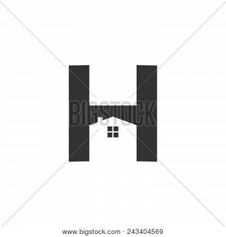 Letter H Home Repair Illustrator. Creative Home Logo Design Idea. Home Repair Services Icon Design.