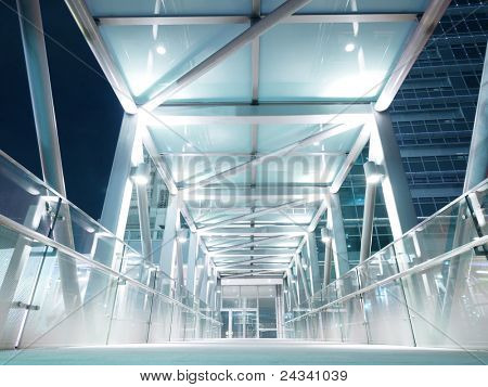 Bright elevated walkway