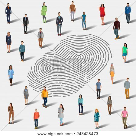 Identification By Fingerprint. The Search For A Person By Fingerprint. Identification Among A Large