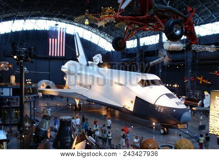 Spaceshuttle Enterprise On Display At The Smithsonian National Air And Space Museum Steven F. Udvar-