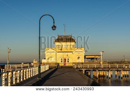 Melbourne, Australia - March 10, 2018: St Kilda Pavilion At The End Of St Kilda Pier Was Originally