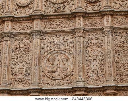 University Of Salamanca Facade Of Escuelas Mayores Side Detail