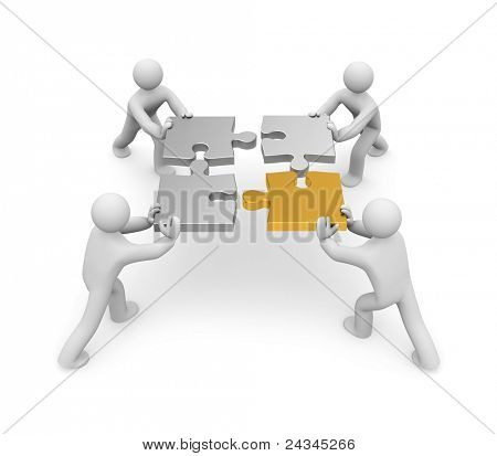 Partnership. Image contain clipping path
