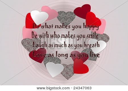 message with hearts
