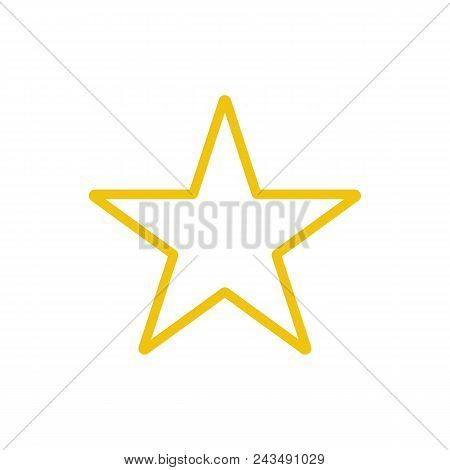 Star Color Icon Vector. Line Yellow Rank Symbol Isolated. Trendy Flat Favorite Outline Ui Sign Desig