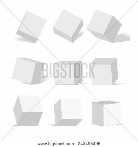 Cube Icon Set Vector & Photo (Free Trial) | Bigstock