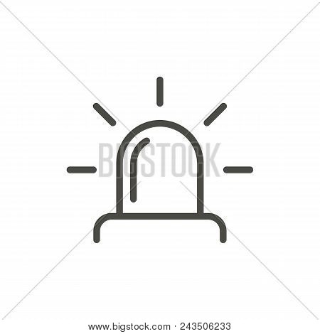 Siren Icon Vector. Line Police Light Siren Symbol Abstract Illustration Eps10. Graphic Background