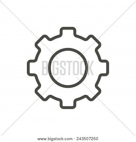 Gear Icon Vector. Line Symbol Abstract Illustration Eps10. Graphic Background Abstract Illustration
