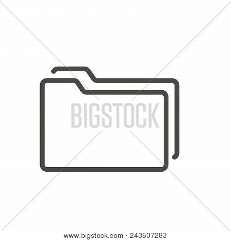 Folder Icon Vector. Line Symbol Abstract Illustration Eps10. Graphic Background Abstract Illustratio