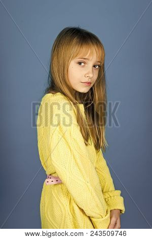 Kids Face Skin Care. Portrait Girl Face In Your Advertisnent. Childhood And Happiness. Childhood Of