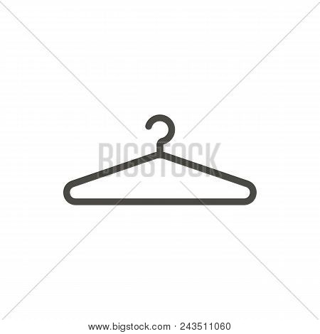 Hanger Icon Vector. Line Clothes Hanger Symbol Abstract Illustration Eps10. Graphic Background