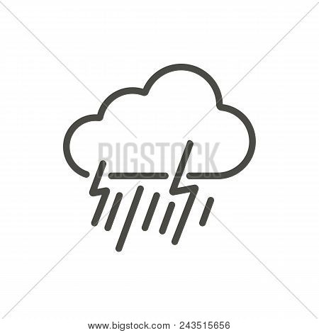 Rainstorm Icon Vector. Line Storm Symbol Abstract Illustration Eps10. Graphic Background