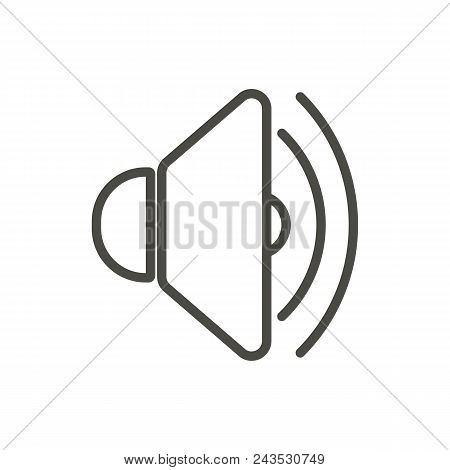 Sound Up Icon Vector. Line Voice Symbol Abstract Illustration Eps10. Graphic Background