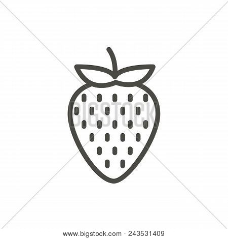 Strawberry Icon Vector. Outline Fruit , Line Strawberry Symbol Abstract Illustration Eps10. Graphic