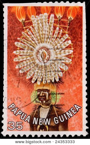 A 35-toea Stamp Printed In Papua New Guinea