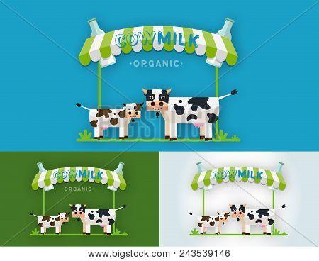 Set Cow Milk Farm Vector Photo Free Trial Bigstock