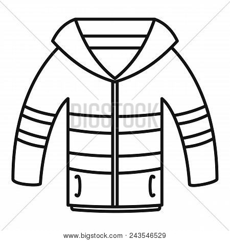 Winter Jacket Icon. Outline Illustration Of Winter Jacket Vector Icon For Web Design Isolated On Whi