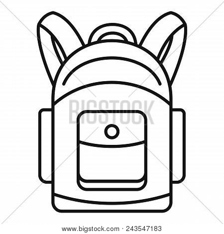 Backpack Icon. Outline Illustration Of Backpack Vector Icon For Web Design Isolated On White Backgro