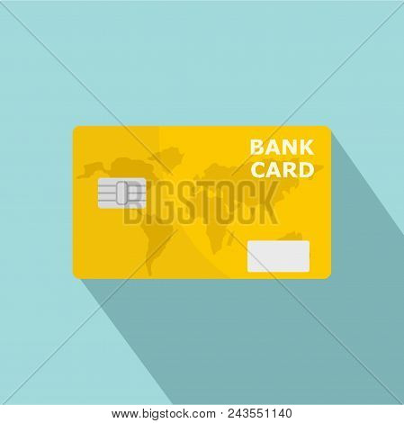 Credit Bank Card Icon. Flat Illustration Of Credit Bank Card Vector Icon For Web Design