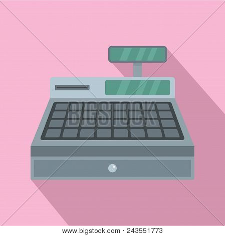 Cash Machine Icon. Flat Illustration Of Cash Machine Vector Icon For Web Design