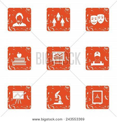 Increase Of The Remittance Icons Set. Grunge Set Of 9 Increase Of The Remittance Vector Icons For We